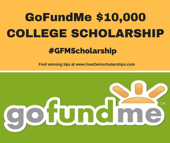 Here is a terrific opportunity for students AND parents! The GoFundMe College Scholarship is a $10,000 award and should NOT be missed!