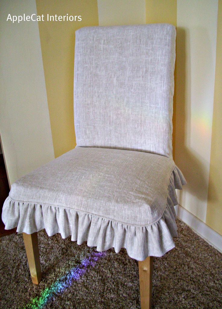 Linen Parson Chair Slipcover Fits Ikea Dining 5500 Via Etsy