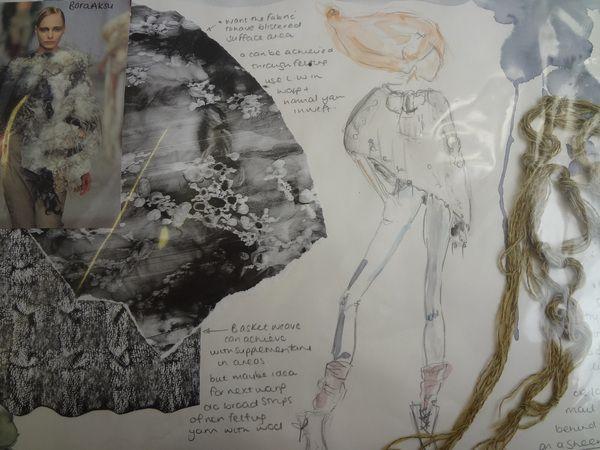 Sketch Book Fashion Illustrations by Jess Hazley - the creative fashion design process