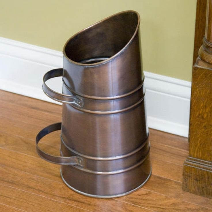 Solid Copper Ash Can - Antique Copper