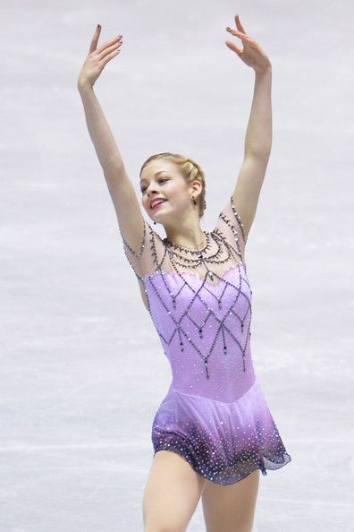 Gracie Gold of The United States competes in the women's freee program during day two of ISU Grand Prix of Figure Skating 2013/2014 NHK Trop...