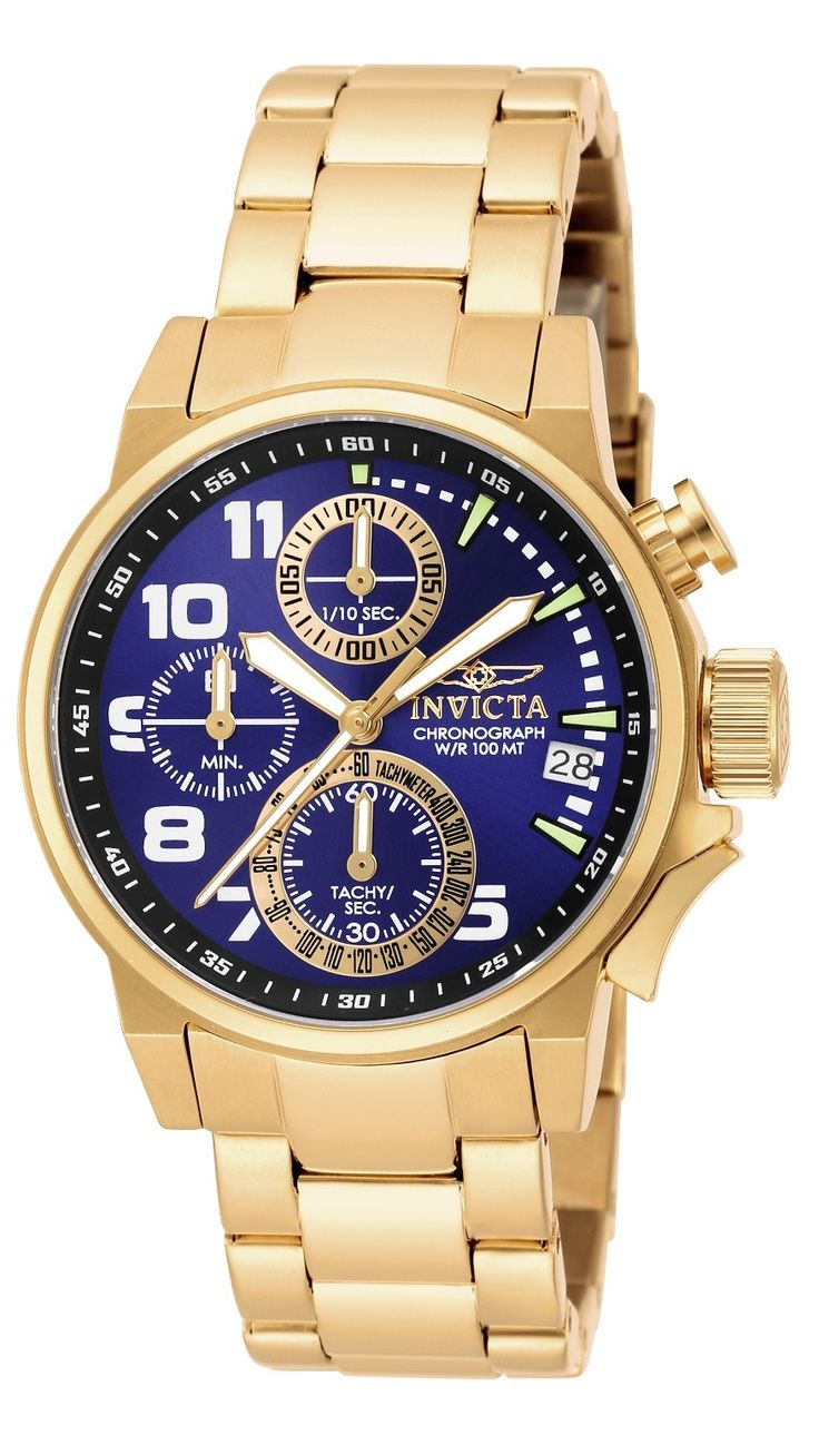Invicta Women's 17418 I-Force Quartz Chronograph Black, Blue Dial Watch - A revolutionary constitution by a democratic leading Force. Focused on an end to class antagonisms, the Invicta Force Collection brings about change and makes what was once in reach to only a few, affordable to all. Commanded by automatic or professional quartz chronograph movements housed within surgical-grade steel cases, the Invicta Force is prepared for war and ready for peace. http://www.mtlcollection.com