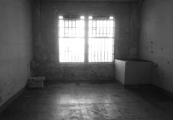 The last cell in the hospital ward at Alcatraz prison. Want this picture printed on canvas or cards etc? Click on the image :)