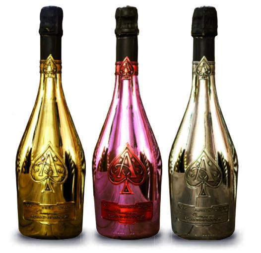 Champagne Armand de Brignac: brut gold, rosé, blanc de blanc