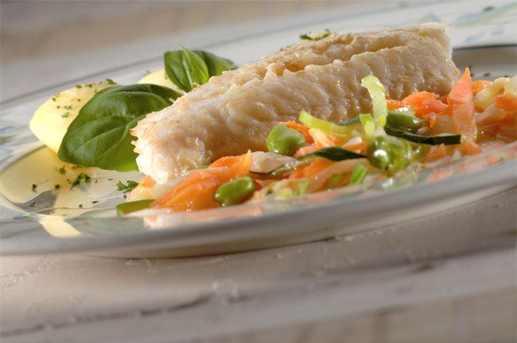 Recepten - Zeewolf krokant gebakken met vel en groentjes