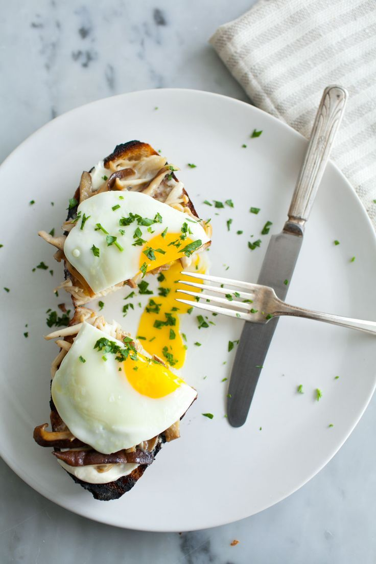 Mushroom Toast with Soft-Cooked Eggs // In need of a detox tea? Get 10% off your teatox order using our discount code 'Pinterest10' on www.skinnymetea.com.au