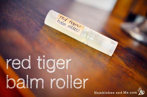 Red Tiger Balm Pocket Roller