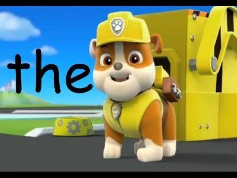 Kindergarten sight words Paw Patrol - YouTube