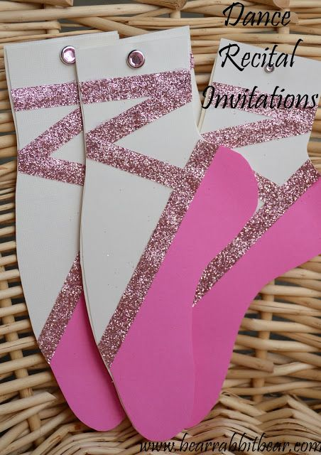 {Girly} Dance Recital Invitations- No Criut Required - It Happens in a Blink