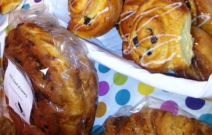 #Chocolate-Bread  and Sour Cherry & Almond Danish