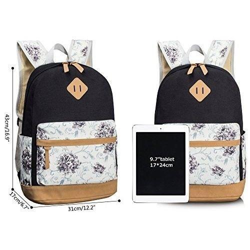 Student School Backpack College Bags Laptop 14'' Bag for Girls Floral by Leaper #StudentSchoolBackpackCollegeBags