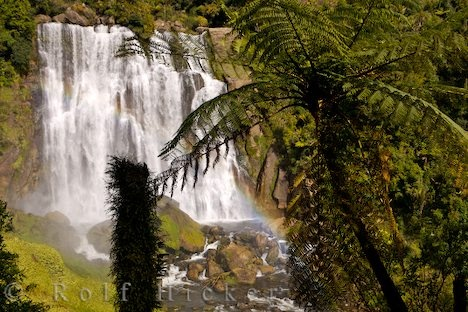 Beautiful Marokopa Falls Waikato Waterfall New Zealand: Marokopa Falls is a large, grand waterfall in the Waikato region of New Zealand. It is known for its natural beauty, cool, clean water and rich green vegetation that grows around the waterfall. Marokopa Falls is described as one of the most beautiful natural waterfalls in New Zealand. The top is about 36 metres above the bottom and as can be seen in the photograph it is a very rocky and wide waterfall. There are viewing platforms from…