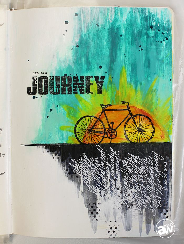 Life Is A Journey by Andrea Walford, artist interviewed by Rhonda Palazzari...