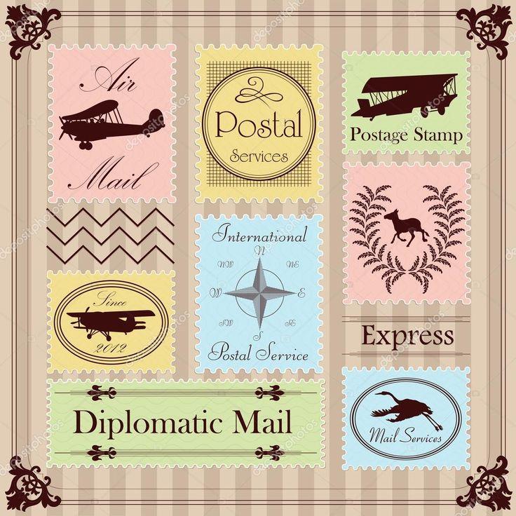 Картинки по запросу винтажные почтовые марки