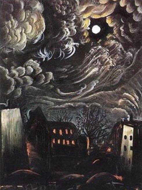 Otto Dix - Night Over The City (1913)