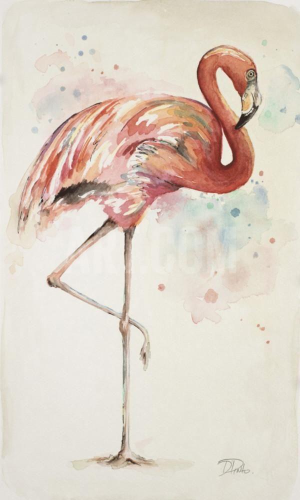 Flamingo II Art Print by Patricia Pinto at Art.com