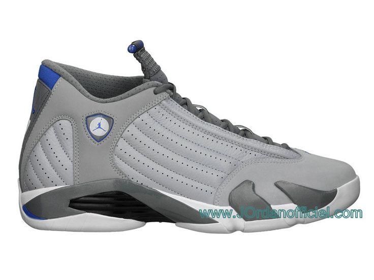 Air Jordan Retro Chaussures Jordan Pour Homme Wolf Grey/Sport Blue jordan  Jordan 14 Sport Blue