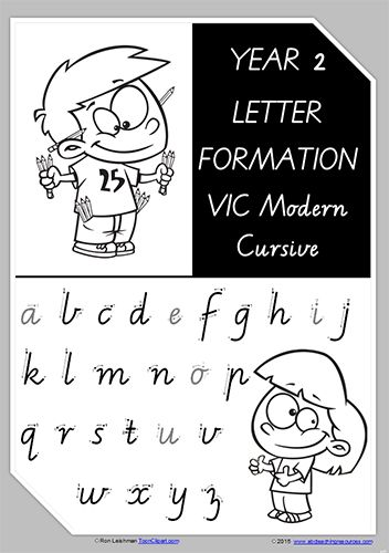 year 2 handwriting letter formation uppercase lowercase vic modern precursive. Black Bedroom Furniture Sets. Home Design Ideas