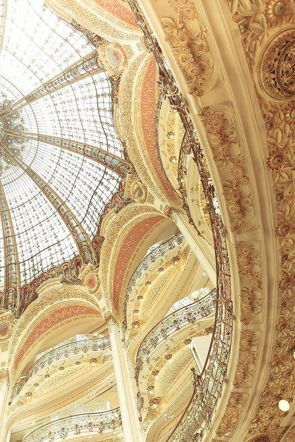 L'Art Nouveau Dôme à la Galerie Lafayette, Paris: V par basheertome, via Flickr