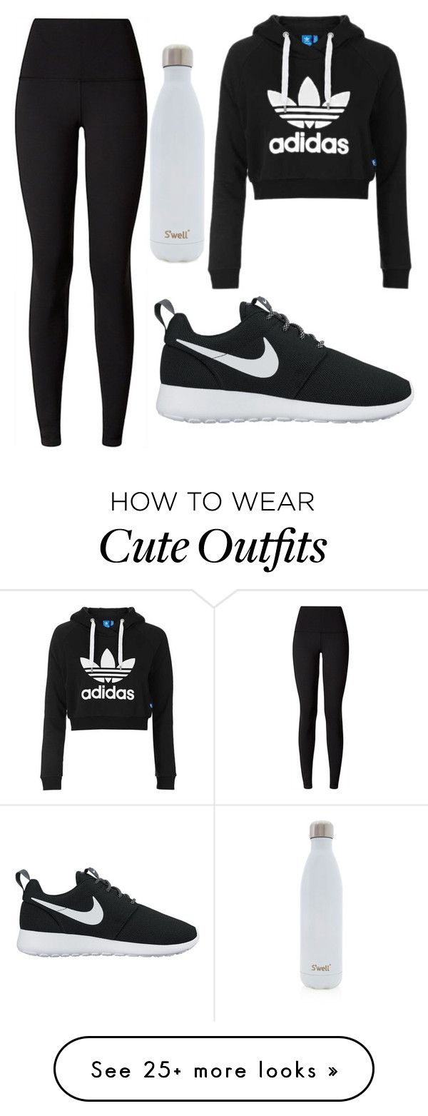 nike shoes cute workout outfit!! by kellyelizabeth12 on Polyvore featuring Topshop, lululemon, NIKE and Swell