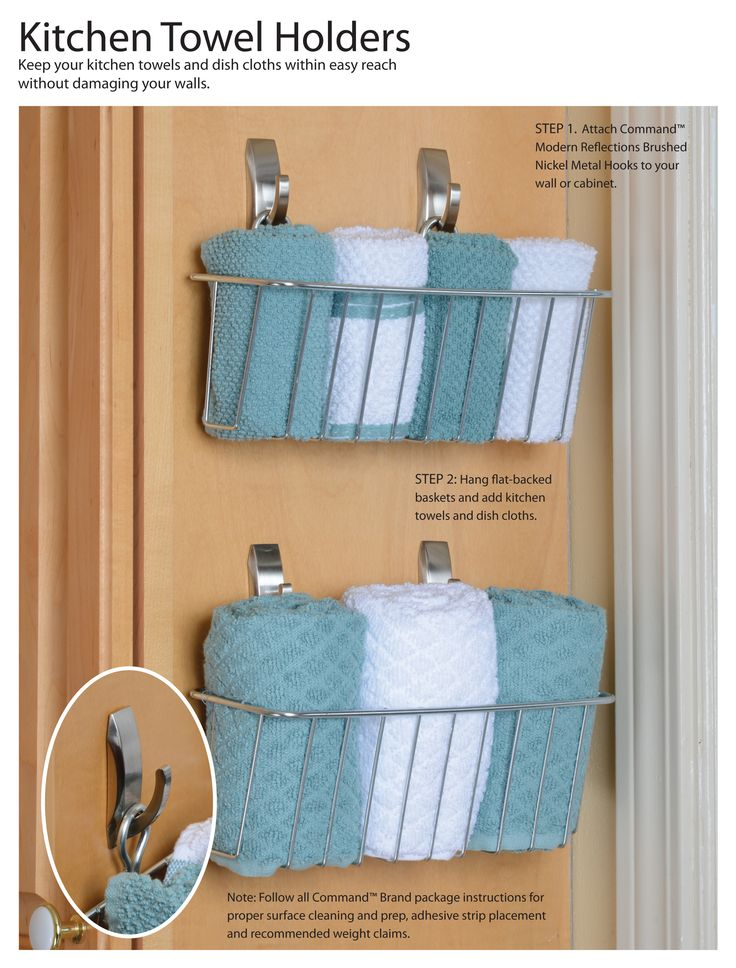 how to organize kitchen towel get the instructions for this easy diy here