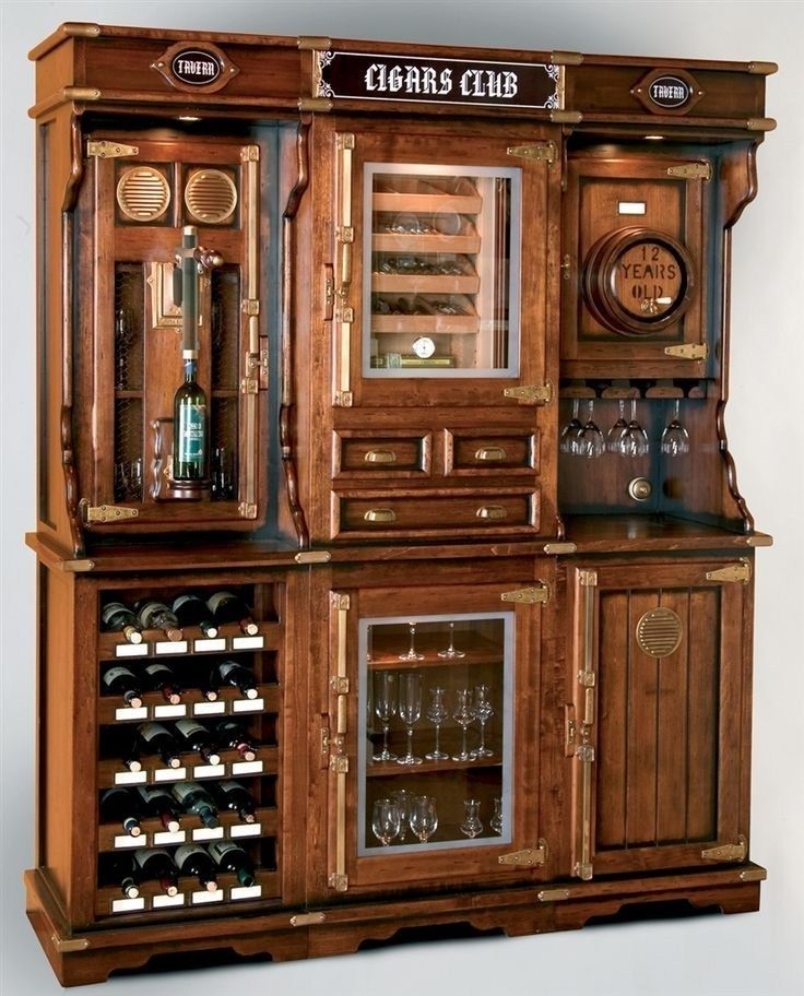 58 liquor cabinet, rustic iron and wood with natural ...