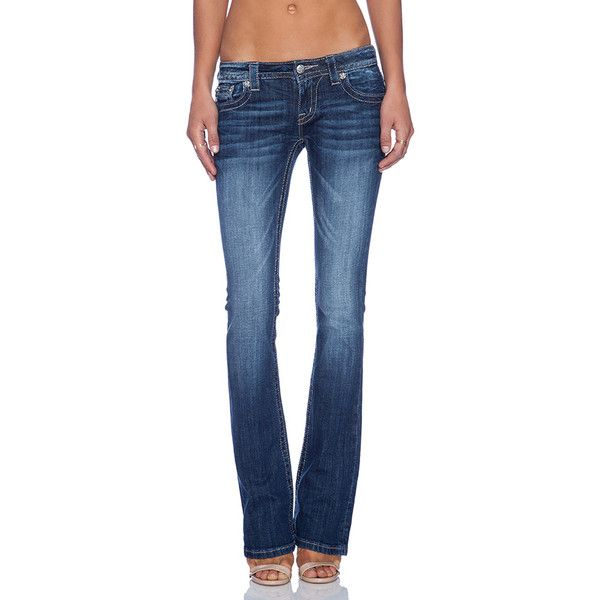 Miss Me Jeans Boot Denim ($70) ❤ liked on Polyvore
