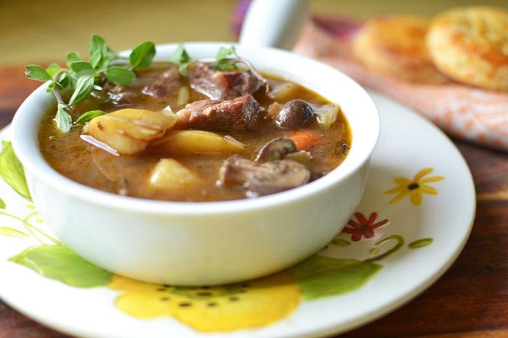 Beef Stew with Bacon via littleferrarokitchen.com