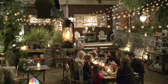 """Braverman backyard from tv show """"Parenthood""""- all I want for Christmas is a set-designer of my very own!"""