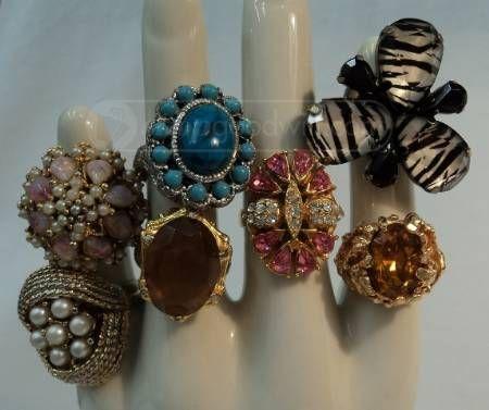 vintage costume jewelry rings...just fun