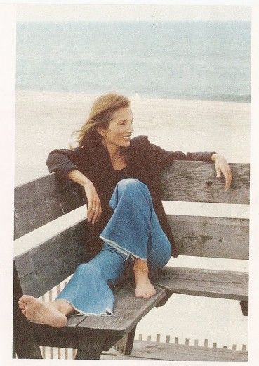 Lee Radziwill - the essence of casual chic......Wide leg jeans...always a good choice.