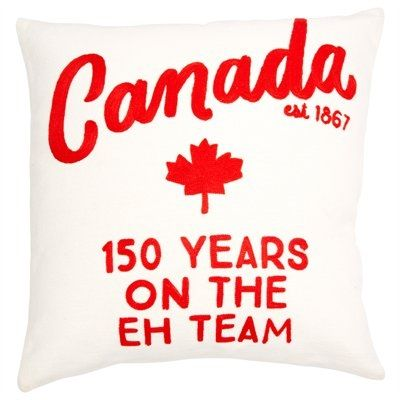 """Expressions Canada 150 Eh Team Pillow Cover – 18"""" x 18"""" by Indigo 