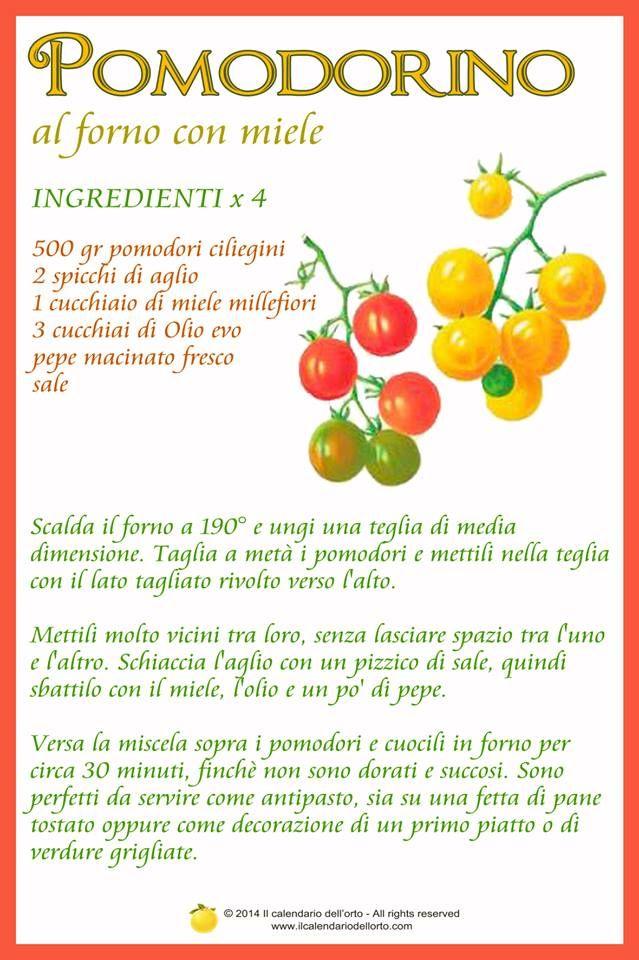 Pomodorino: al forno con miele