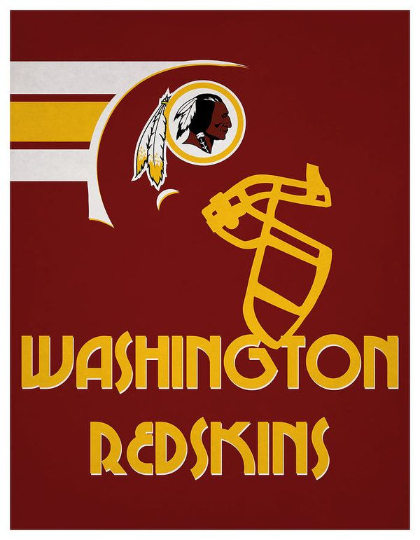 Washington Redskins Team Vintage Art Art Print By Joe Hamilton