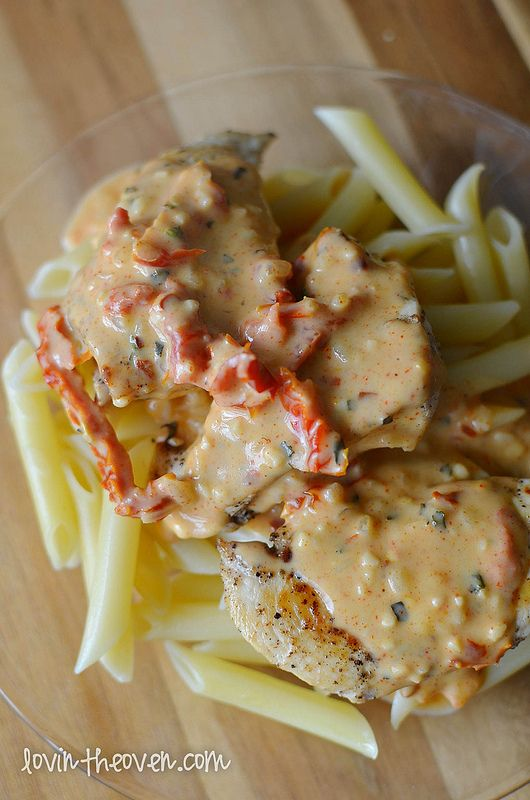 Chicken Pasta with Sun-Dried Tomato Basil Sauce