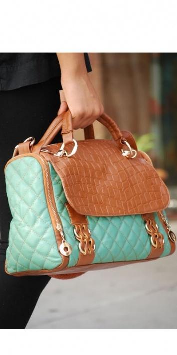 Purse fashion turquoise