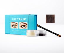 SureThik Eyebrow Thickening Fibers are made from 100% Natural Keratin Fibers and 100% Natural Bees wax that bind to make even the thinnest eyebrows look naturally thick. Forget about messy gels and harsh looking pencils, our Eyebrow Thickening Fibers are long lasting and will give your brows effortless looking fullness.