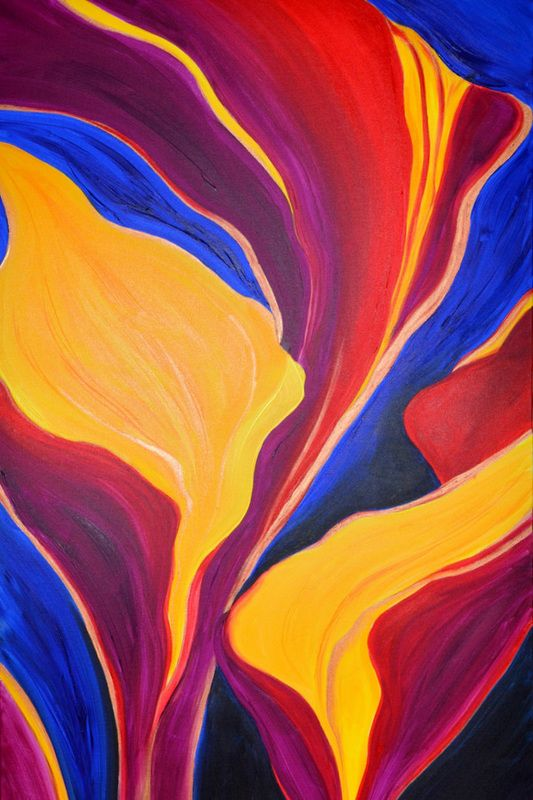 """""""Fire Dancer"""" by Stephanie Jack - 36in x 60in - acrylic on canvas - 2013 - $525"""
