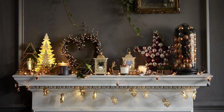 6 façons de décorer sa cheminée pour Noël