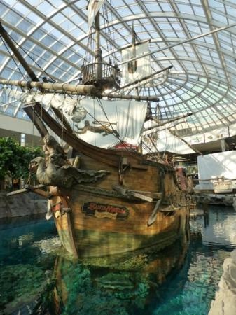 WEST EDMONTON MALL ....The world's largest shopping and entertainment complex, with a roller coaster, tropical rainforest and an indoor bungee jump, in addition to the over 800 stores and 20 restaurants.