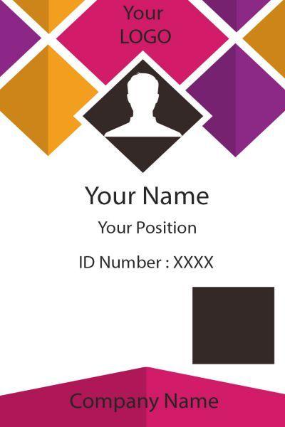 25+ Free ID Card Template Downloads | Kartu nama, Kartu ...