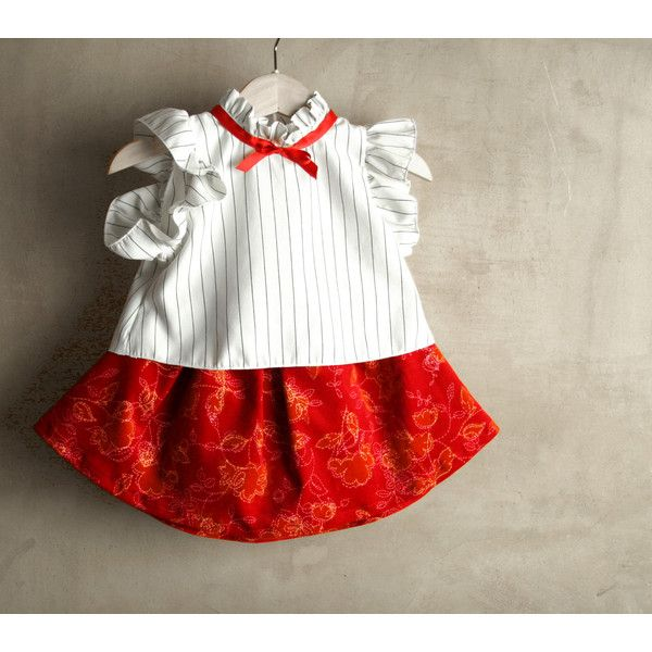 Christmas baby girl dress, toddler girl Christmas dress, red velvet... ($72) ❤ liked on Polyvore featuring pabuita