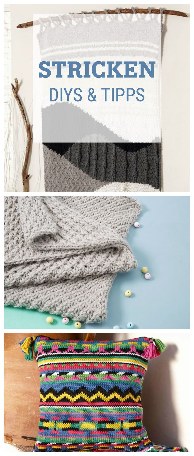 Strickanleitungen für Dein Zuhause: DIYs und Tipps für gestrickte Wohndeko / knitted home decor: diy patterns for knitting via DaWanda.com