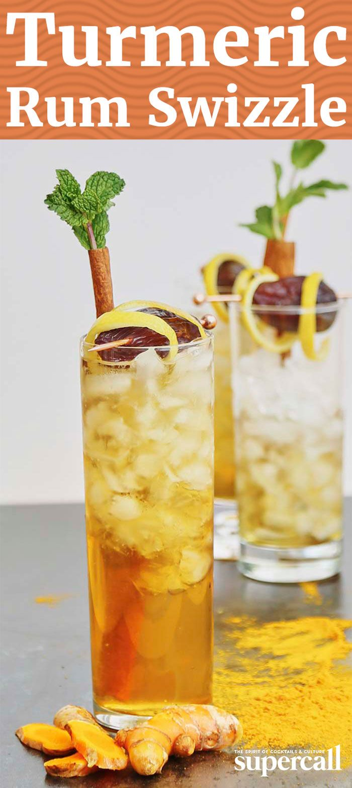 The complex drink is underlined by a base of grassy golden rum and herbaceous gin, and topped off with an appropriately spiced, quirky garnish: a cinnamon and mint palm tree.