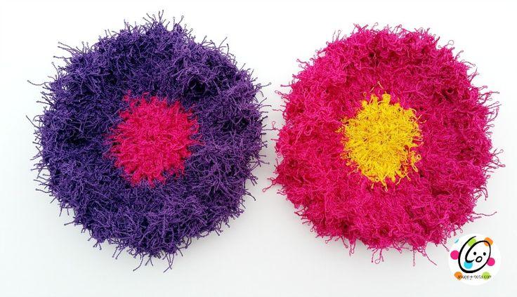 flower dot scrubbies free crochet pattern