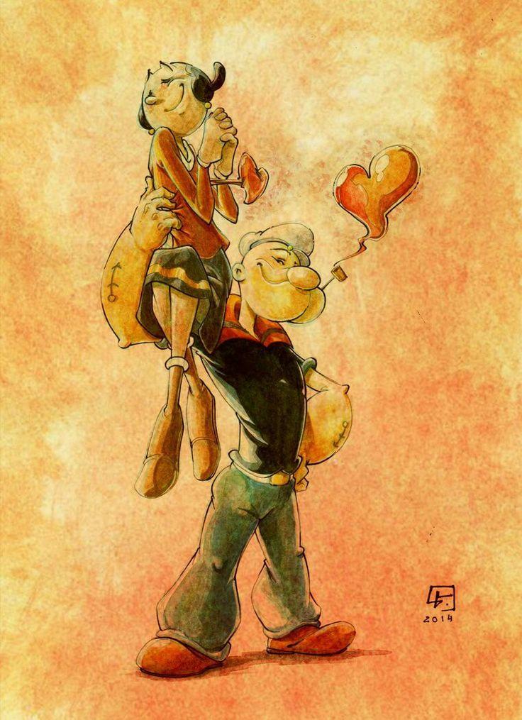 Popeye & sweetie Olive Oyl