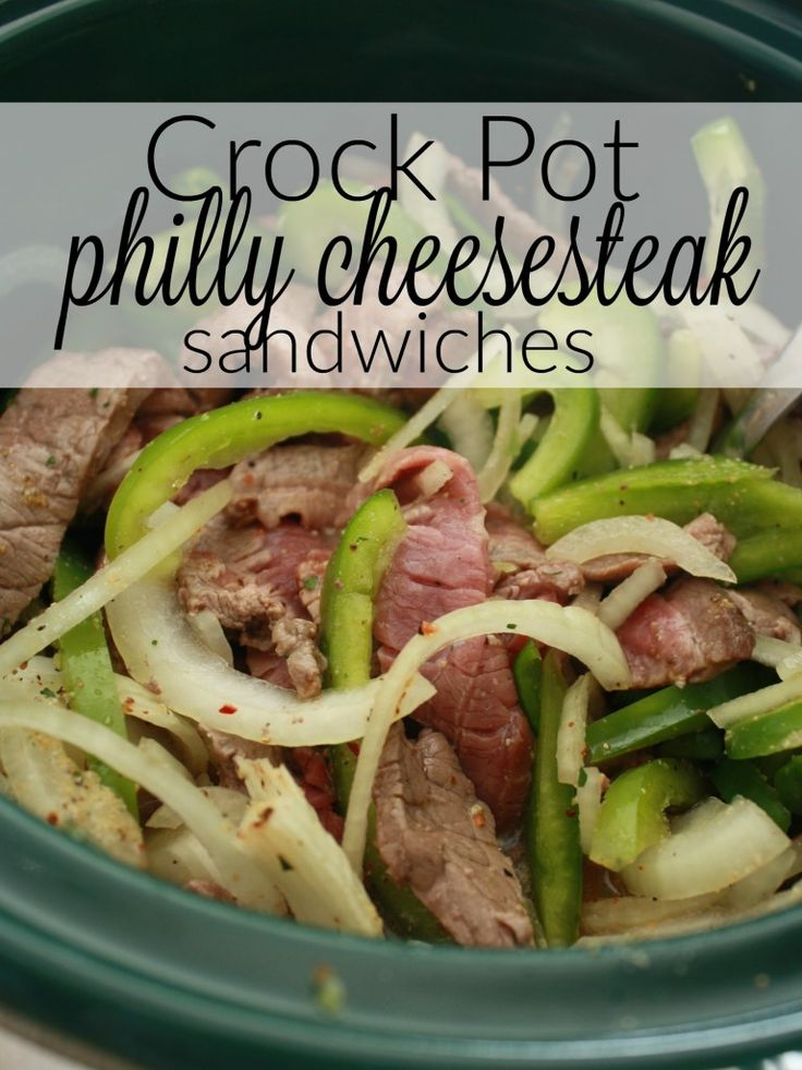 I love an amazing hot sandwich recipe. And this philly cheese steak crock pot…