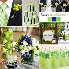 Lovely navy and lime wedding color scheme!  Perfect for the summer! | Tapestry House Wedding and Event Center.