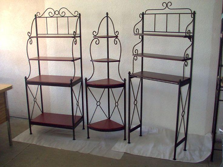 Repisas de hierro forjado hierro forjado pinterest for Muebles de fierro forjado