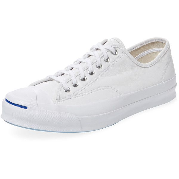 Converse Men's Converse x Jack Purcell Signature Leather Low Top... (190 BRL) ❤ liked on Polyvore featuring men's fashion, men's shoes, men's sneakers, white, mens white leather shoes, mens cap toe shoes, mens white shoes, converse mens sneakers and men's low top shoes